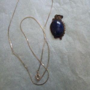 Blue Lapis Lazuli Pendant & Necklace